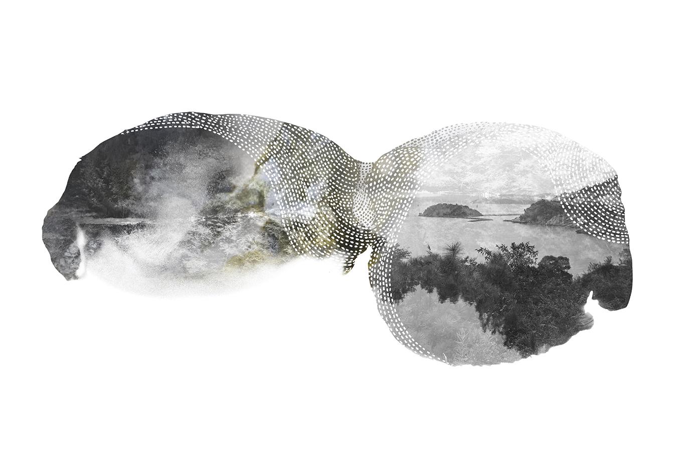 Islands 02, mixedmedia, 10 x 6 inches, 2015