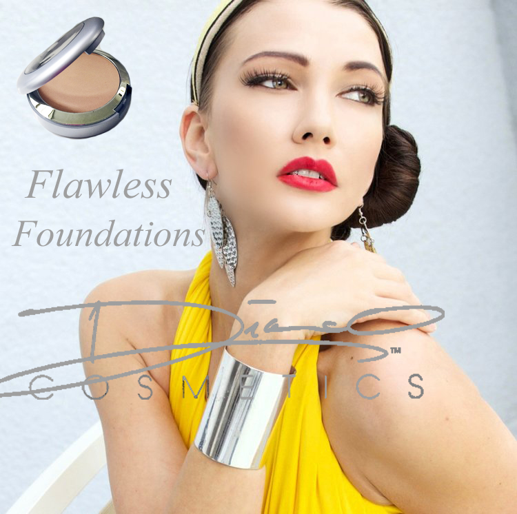 Flawless Foundations - Our Flawless Foundations will help your skin look beautiful and elegant, without looking as though you were trying way too hard.The Flawless Foundations come in different categories according to your skin type, condition and nationality. The colors range from Ebony to Ivory; the shades come with ether pink or yellow undertones, according to the tone of your skin.