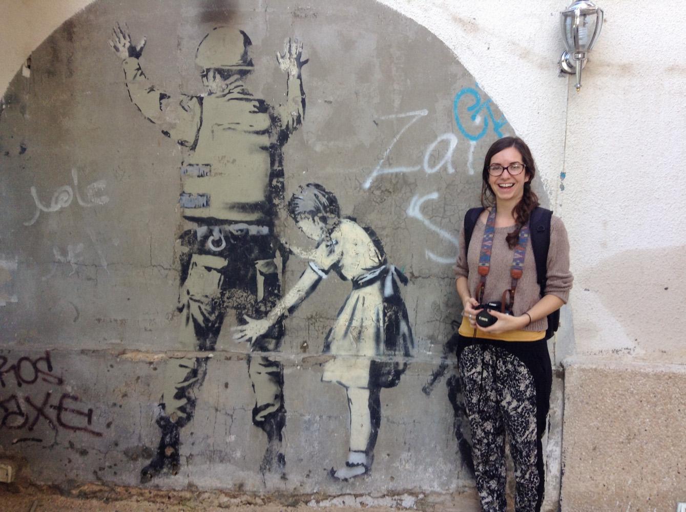 See a Banksy piece • Bethlehem, Palestine •