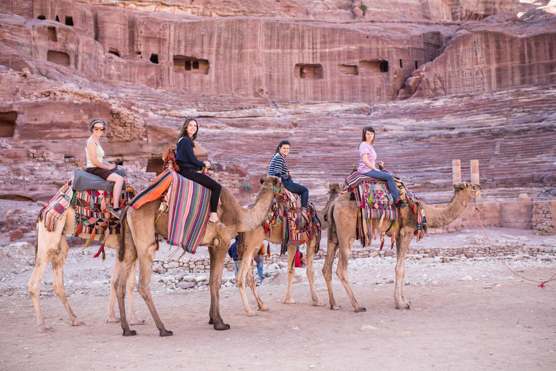Ride a camel • Petra, Jordan •