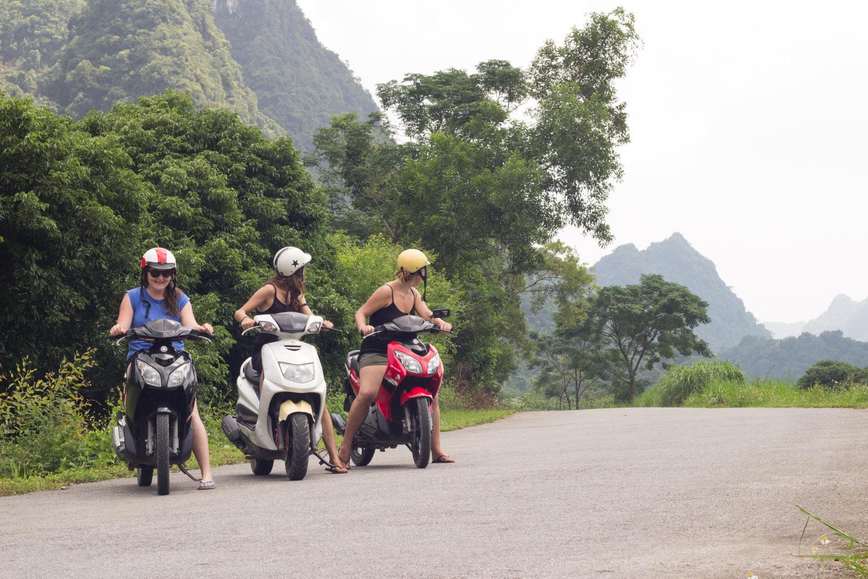 Ride a moped • Cat Ba Island, Vietnam •