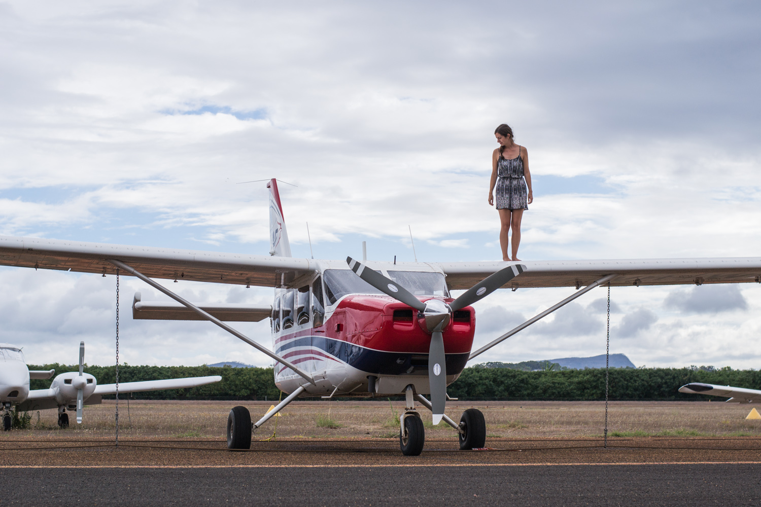 Stand on the wing of a plane • Mareeba, Queensland, Australia •