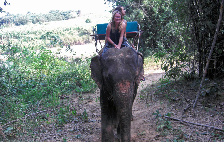 Ride an elephant • Kanchanaburi, Thailand •