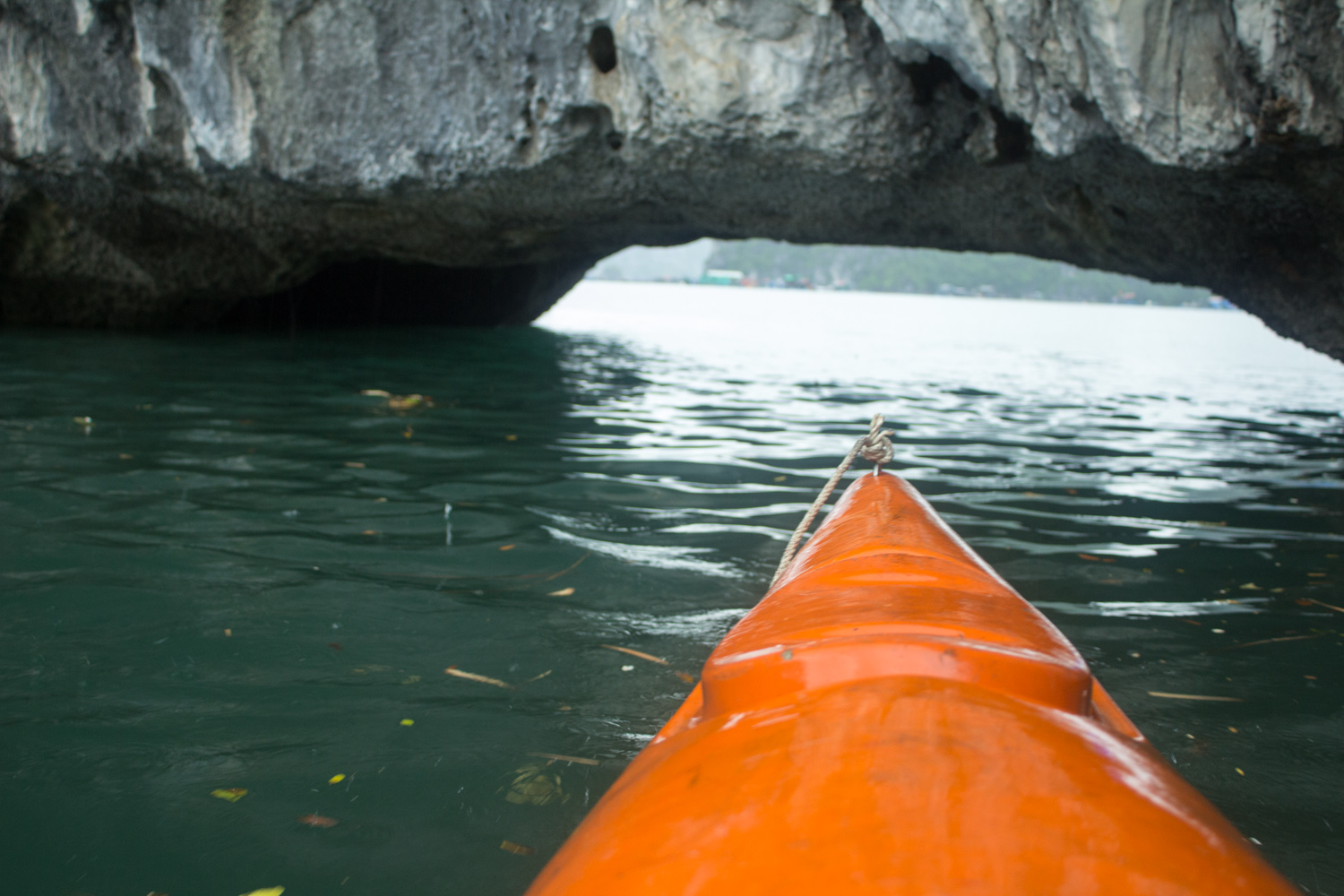 Where risking kayaking in the rain with my fancy camera felt worthwhile because of this photo. • Halong Bay, Vietnam •