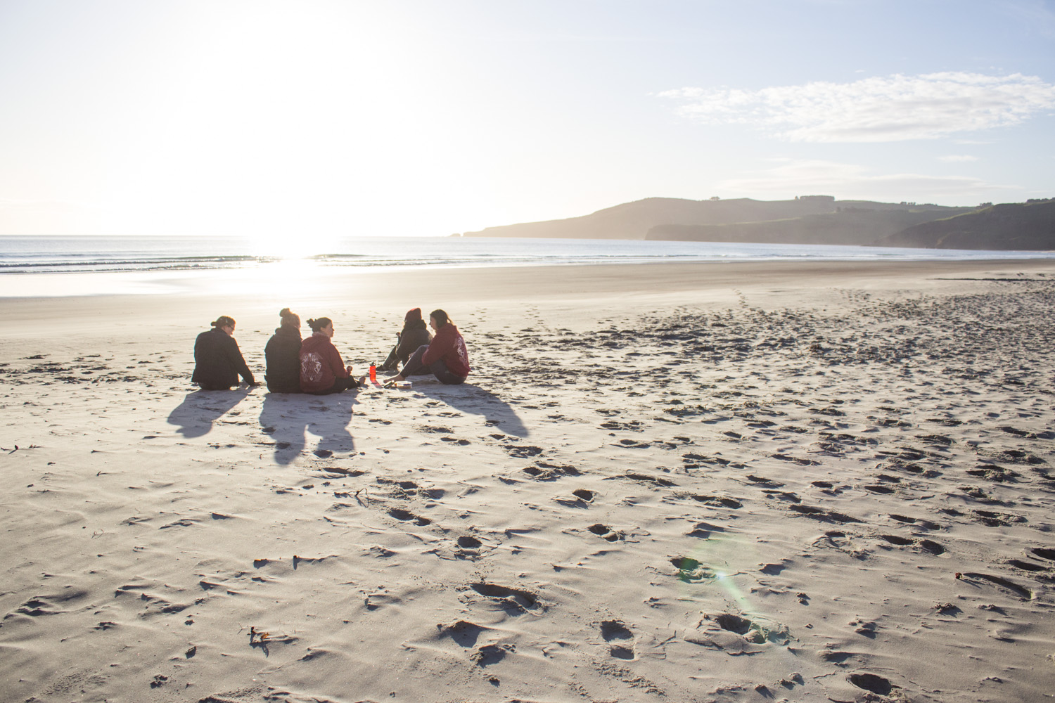 Breakfast on the beach after sleeping in a cave, as you do • Dunedin, New Zealand •