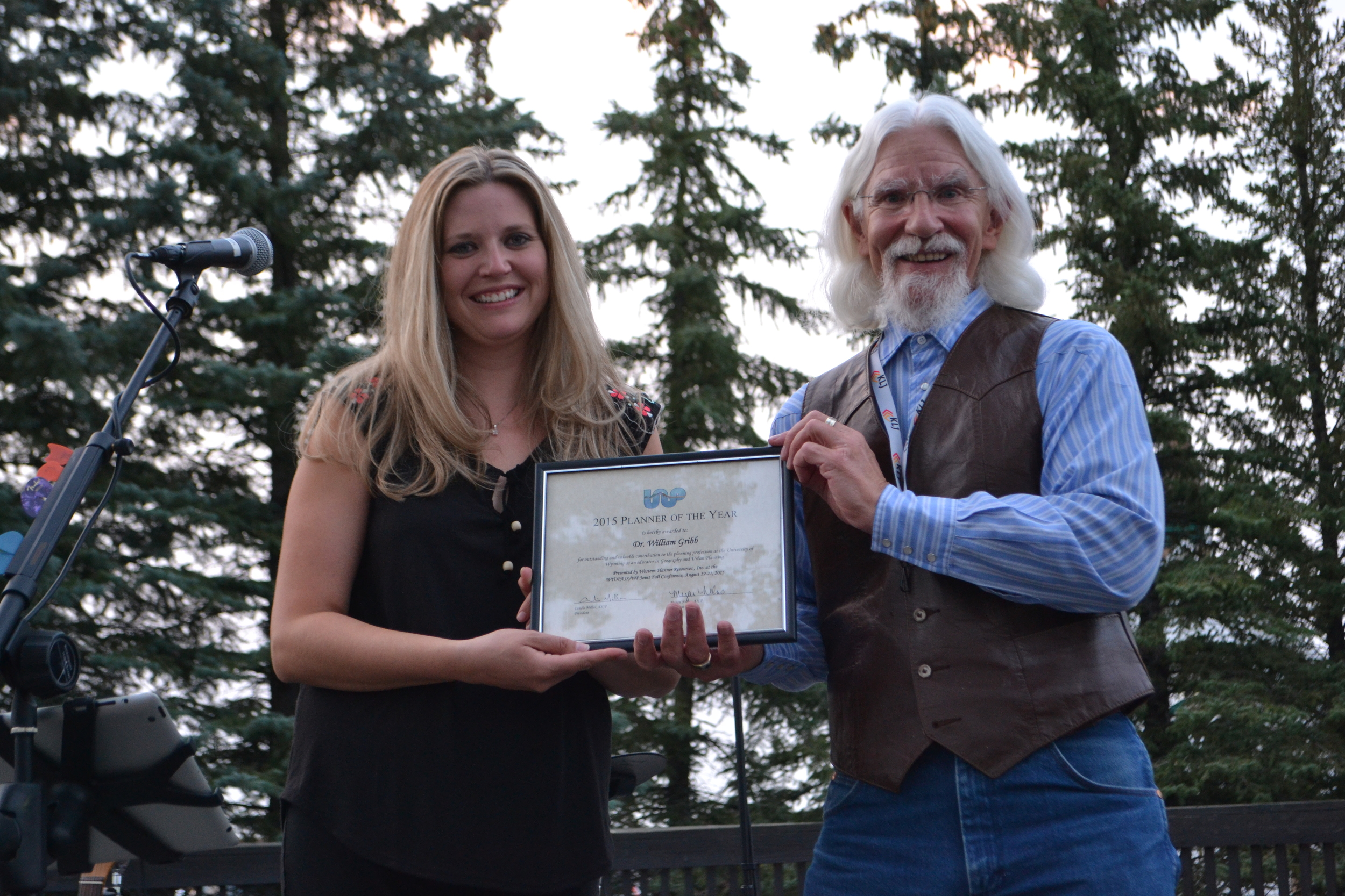Western Planner of the Year — Dr. William Gribb, of the University of Wyoming Geography Department