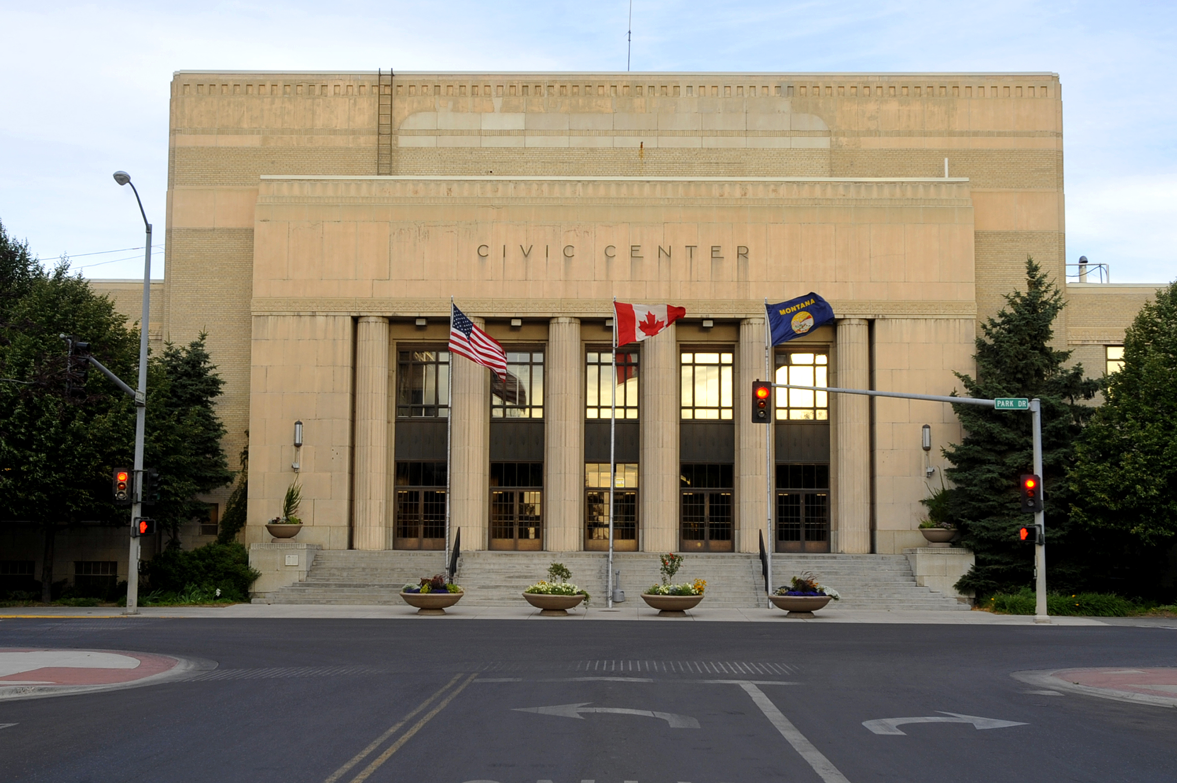 2016 CONFERENCE HEADQUARTERS. The Great Falls Civic Center is an excellent example of the twentieth century Art Deco style on a monumental scale. The Civic Center was built in the 1930s under President Franklin Delano Roosevelt's Works Progress Administration. Photo provided by City of Great Falls.