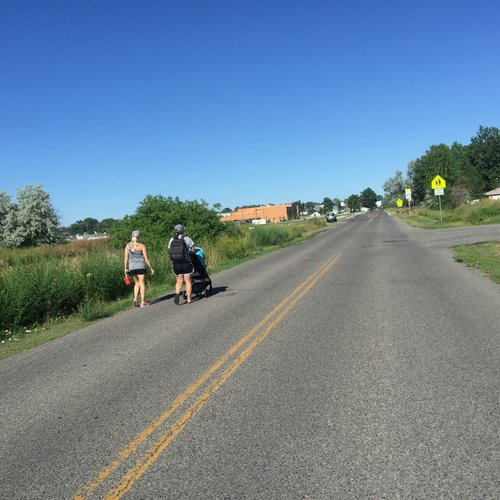 PARENTS OF STUDENTS WHO ATTEND THE NEW SCHOOL, MEDICINE CROW, HAVE BROUGHT CONCERNS ABOUT MISSING SIDEWALKS. PHOTO BY KATHLEEN ARAGON.
