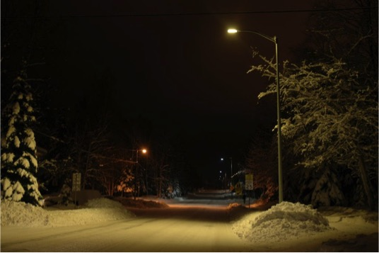 Example of warm light