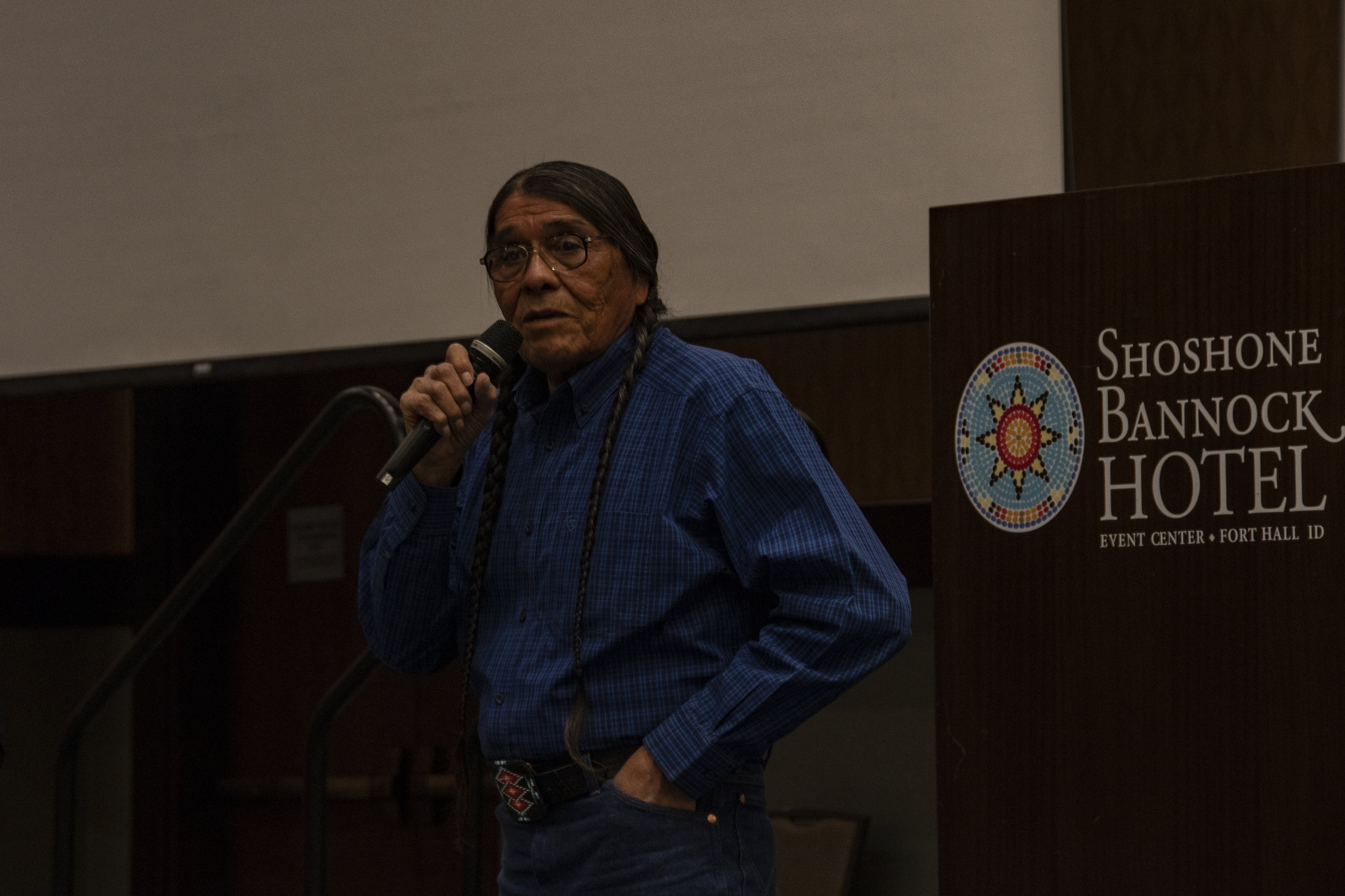 Nathan Small, Tribal Chairman for the Fort Hall Business Council, gave welcome remarks.