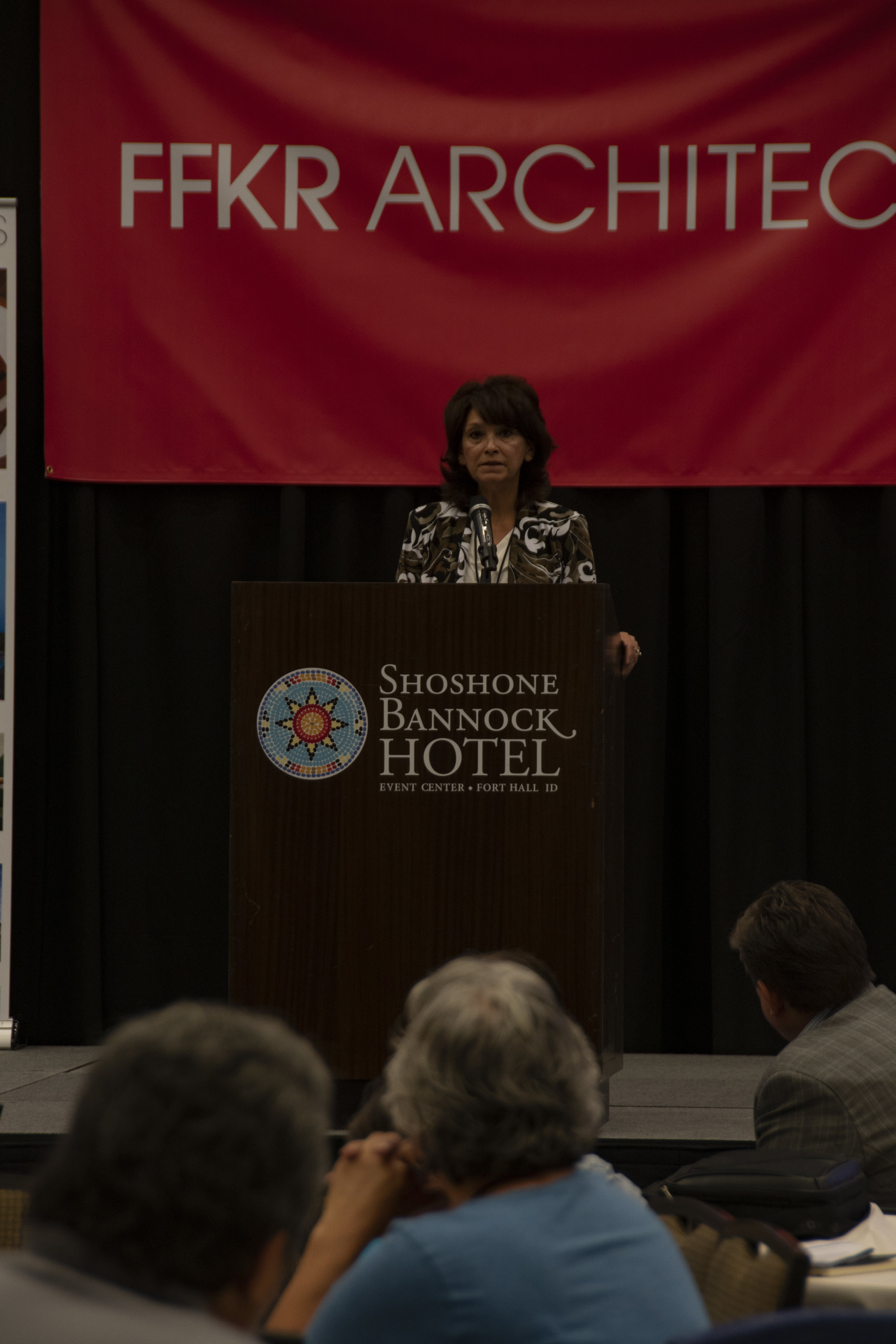Tammie Poitra is the Deputy Regional Director, Trust Services for the BIA – Midwest Regional Office. She also was one of this morning's keynote speakers.