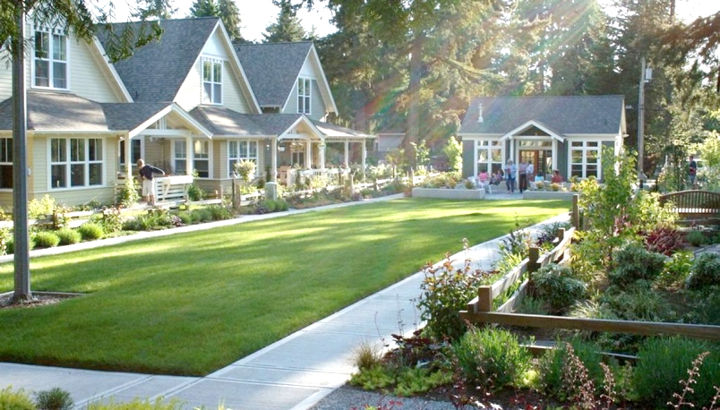 A cottage cluster development in Whidbey Island, Washington.  Photo credit: Ross Chapin Architects