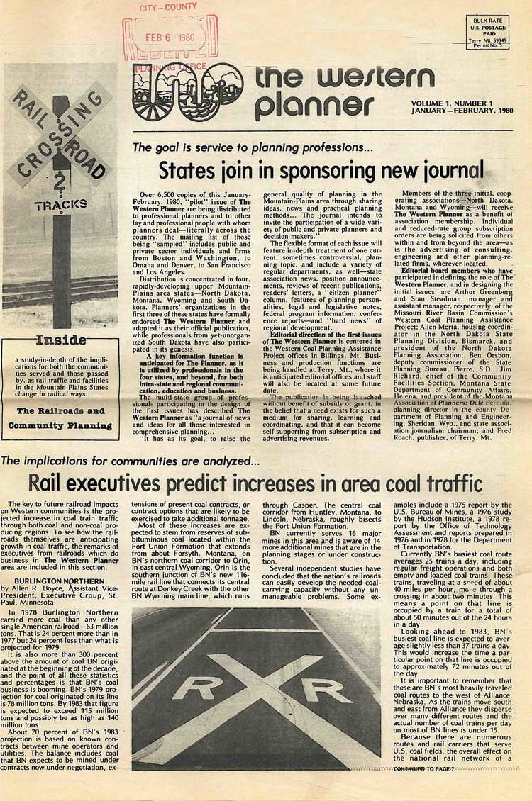 1980 - Issue 1 (Click to see in larger format)