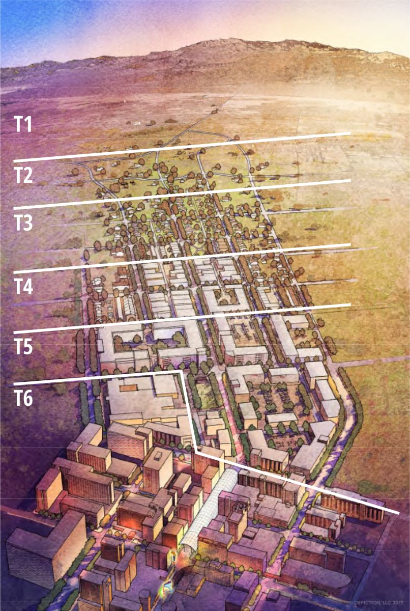 Figure D: The Las Vegas Transect graphic; Credit: City of Las Vegas