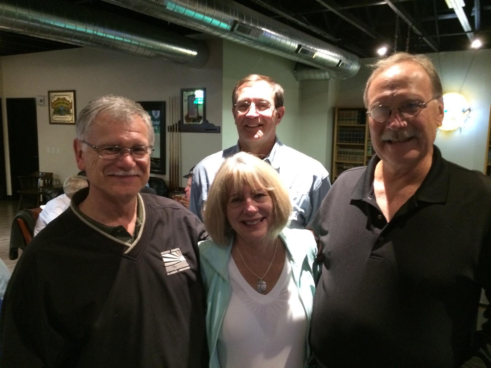 Ken with his friends at a Western Planner conference.  Ken Waido, right; Joanne Garnett, center; Larry Weil, left; Ben Orsbon, back.
