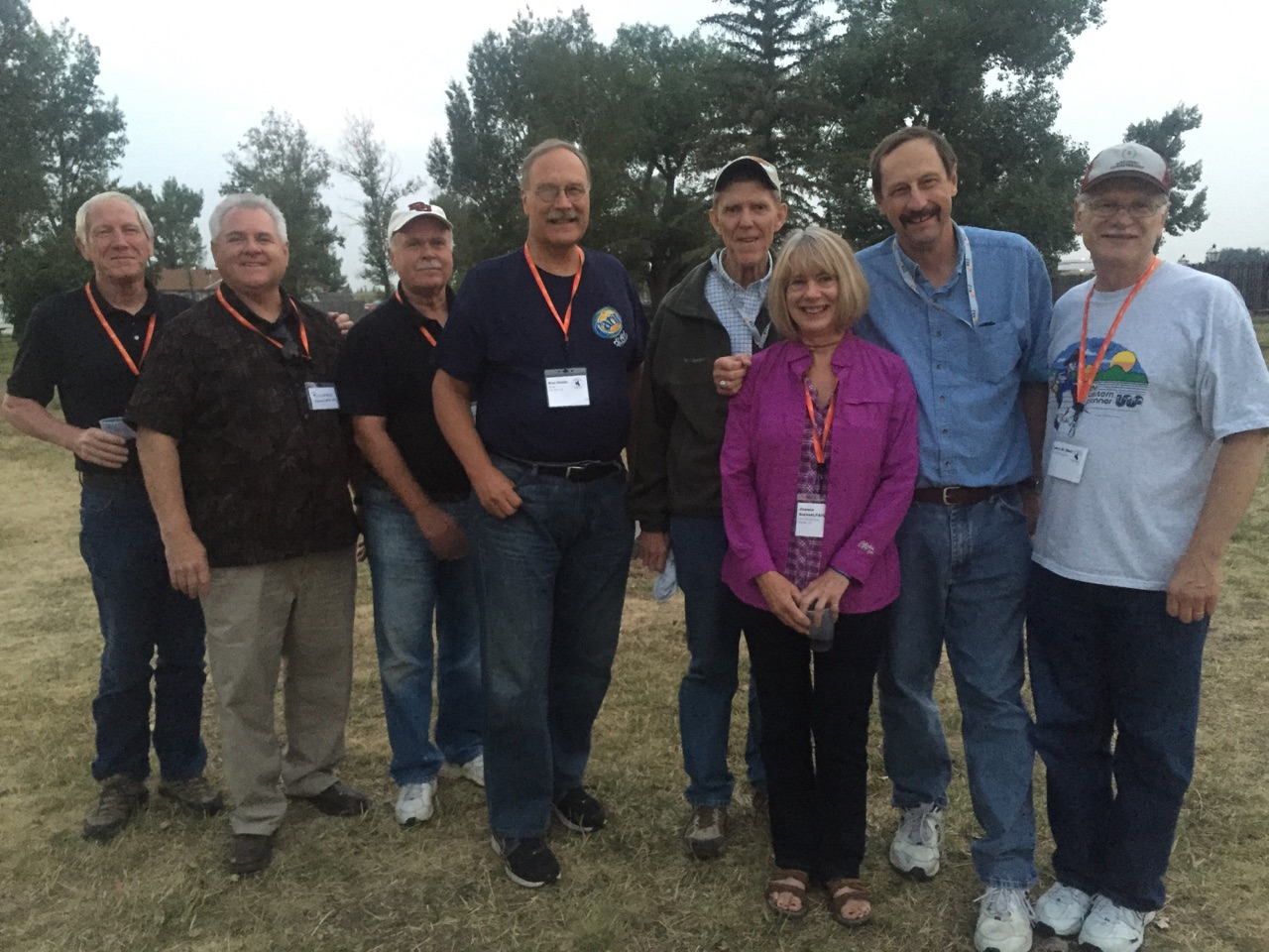 Ken with his friends at a Western Planner conference.  Ken Waido, middle - fourth from left