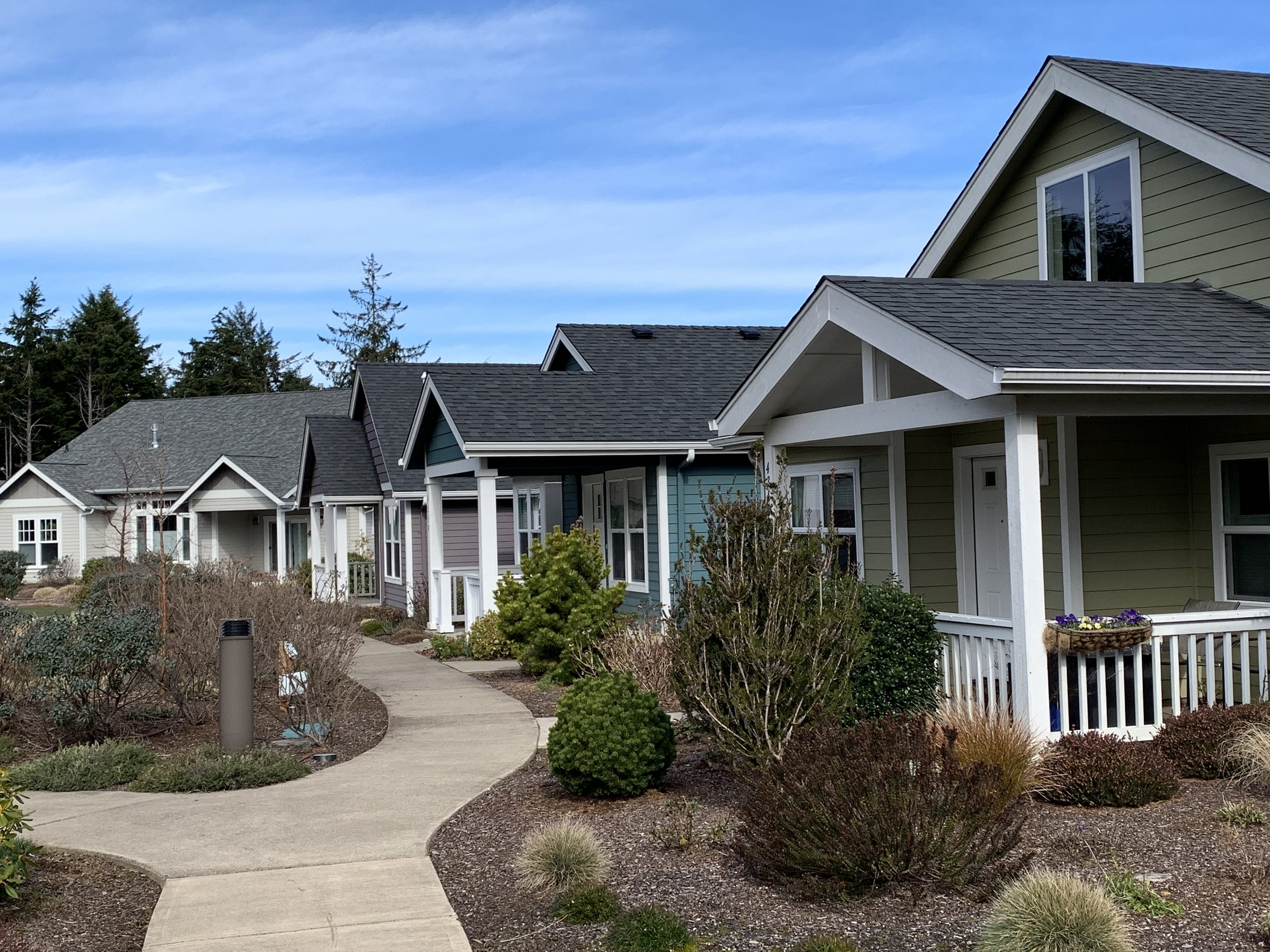 Wilder Cottage Cluster Development in Newport, OR (Credit: Andrew Parish, AICP)