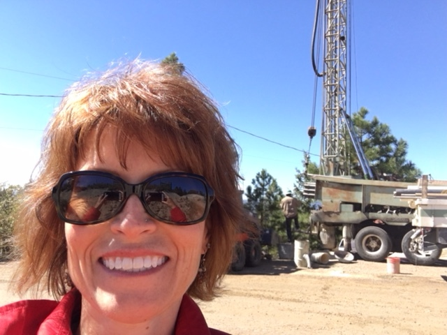 Douglas County employee on site for the first well to be drilled in 2018.