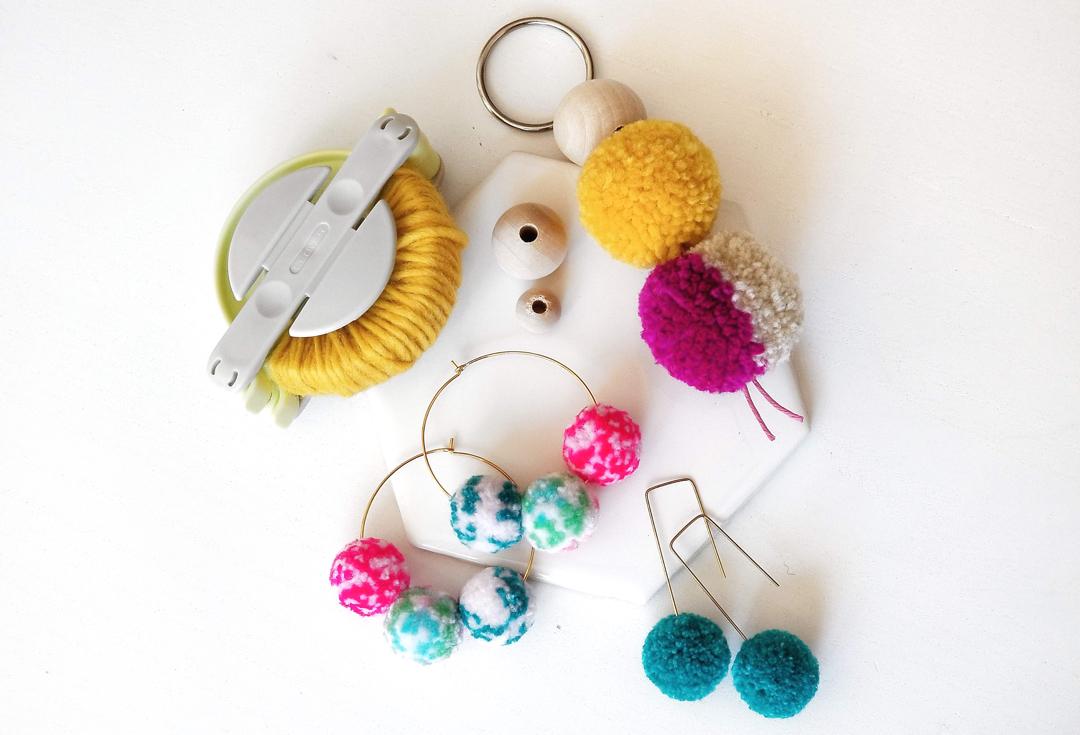 pom-pom-earrings-keychain-diy-workshop