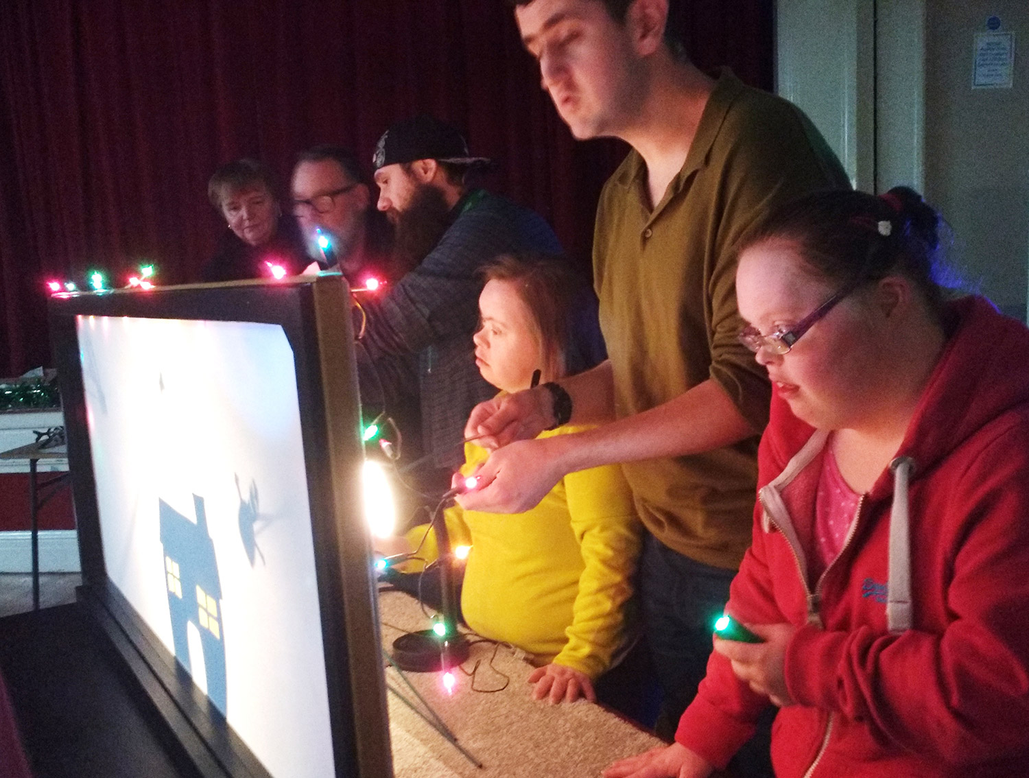 All ages entranced by shadow puppetry