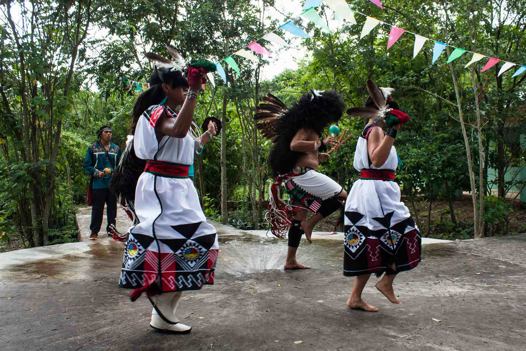 Pueblo buffalo dancers