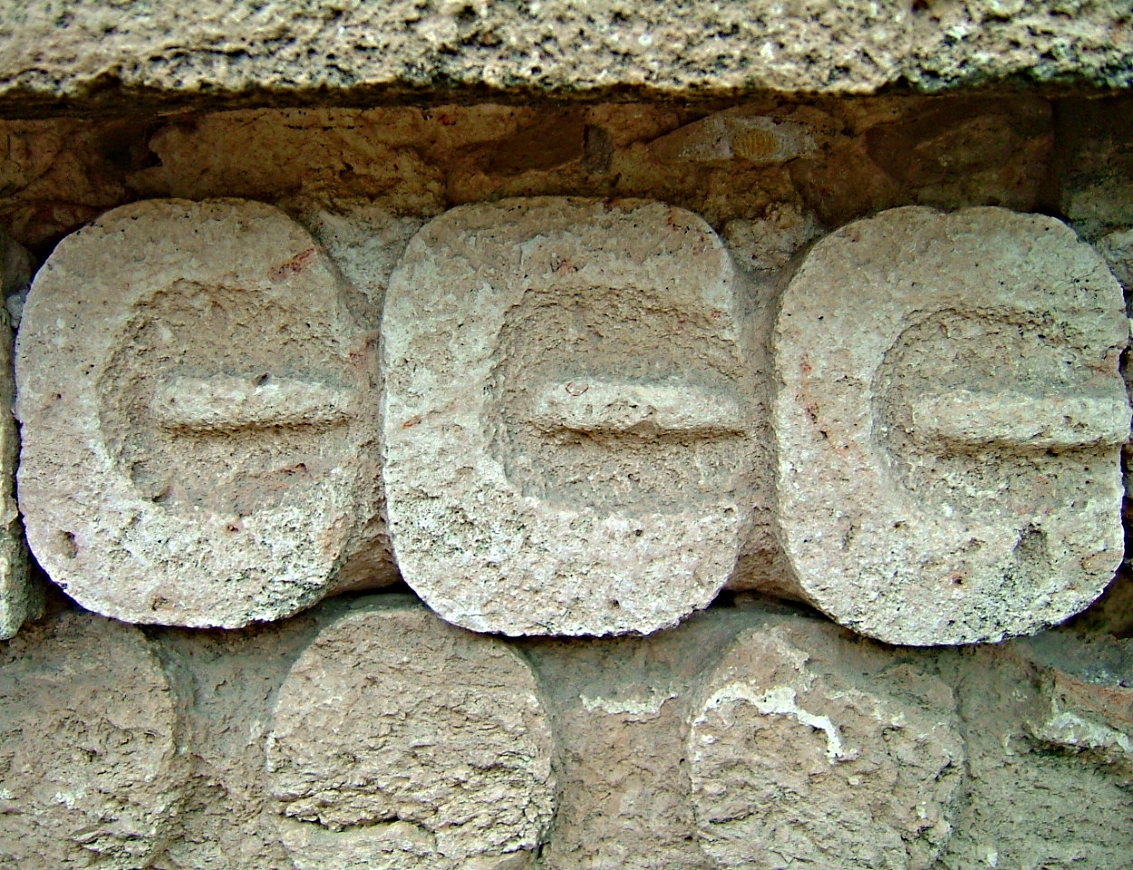 Corn seeds carved in stone, Uxmal