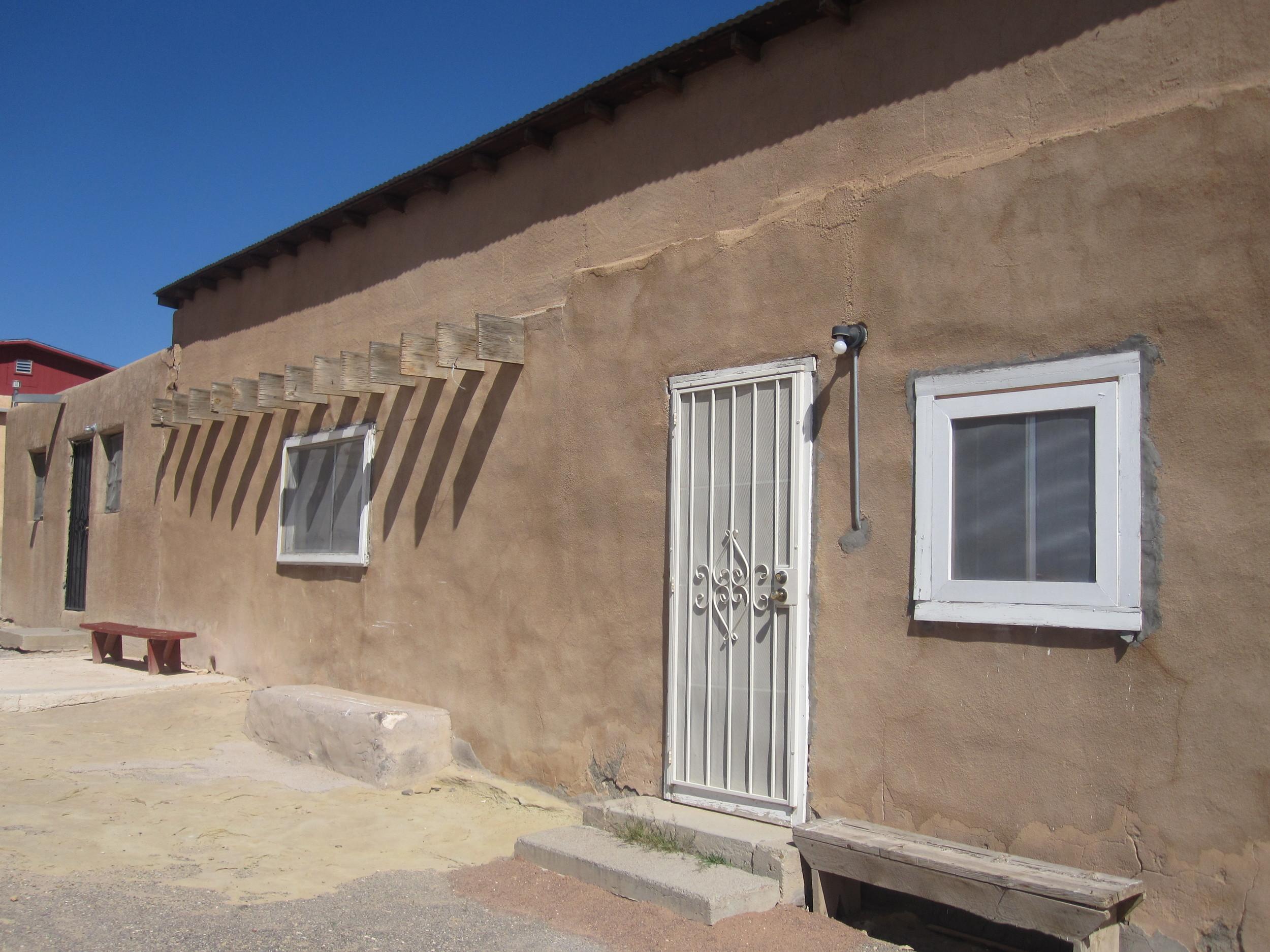 Adobe home at Laguna Pueblo