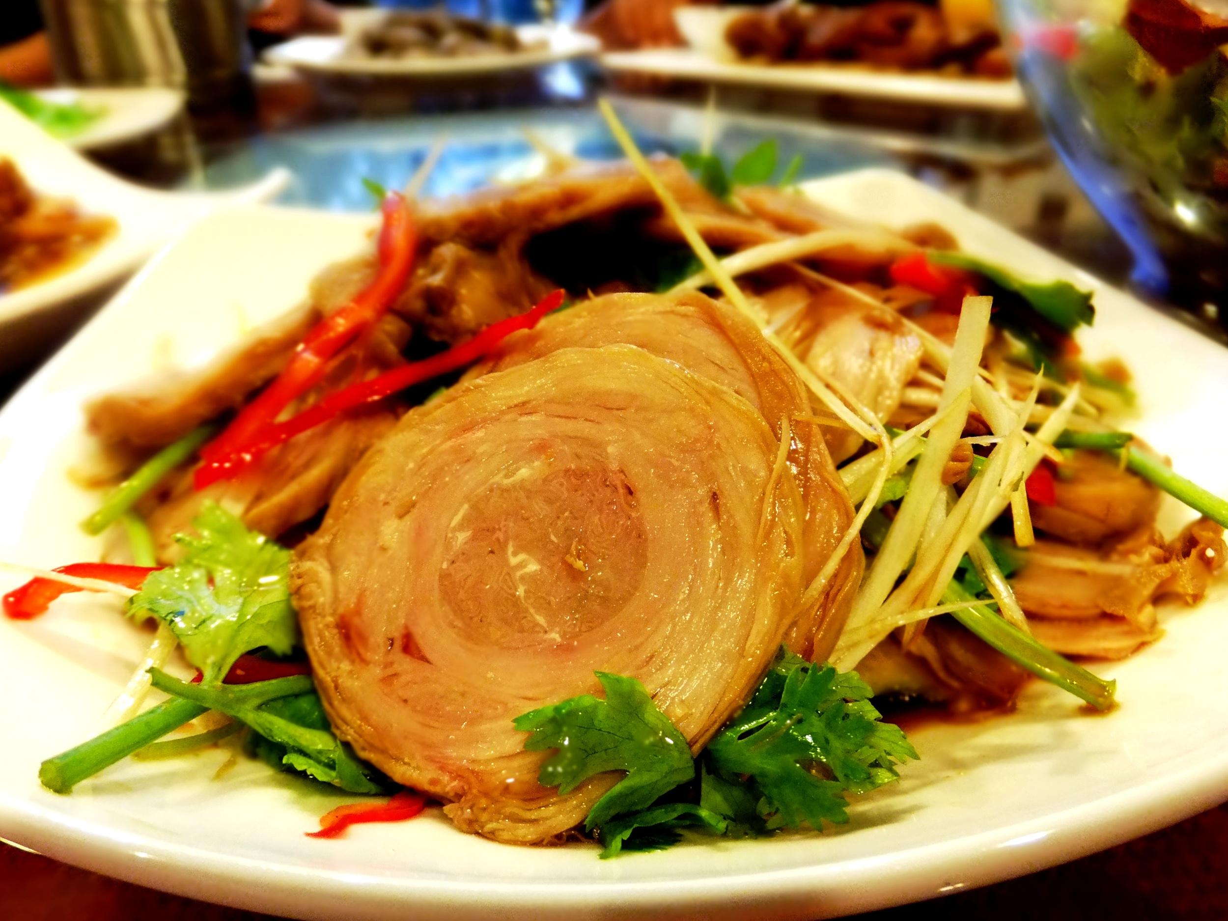 Pork intestines