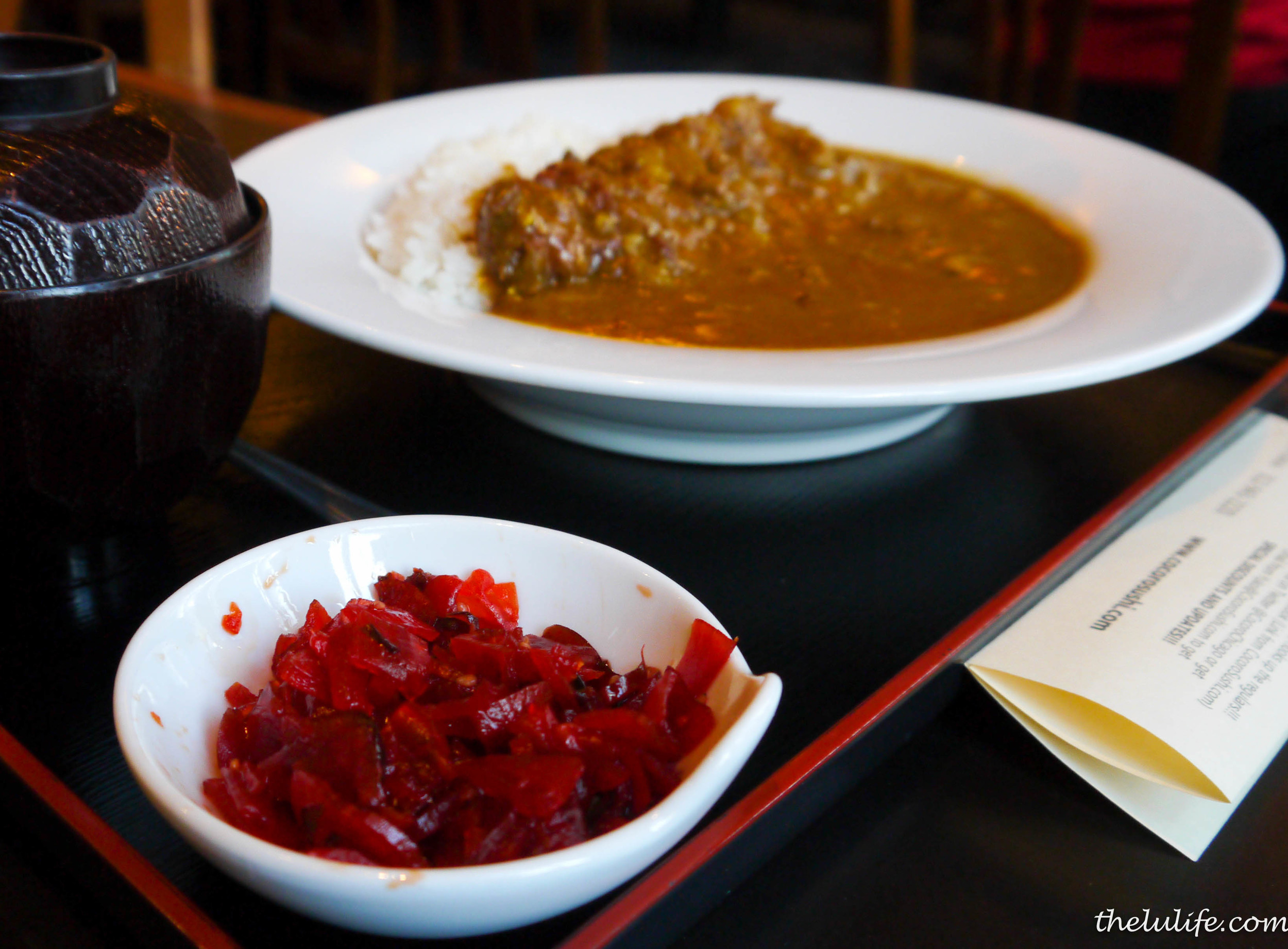 Figure 3. Japanese curry with a side of pickled radishes