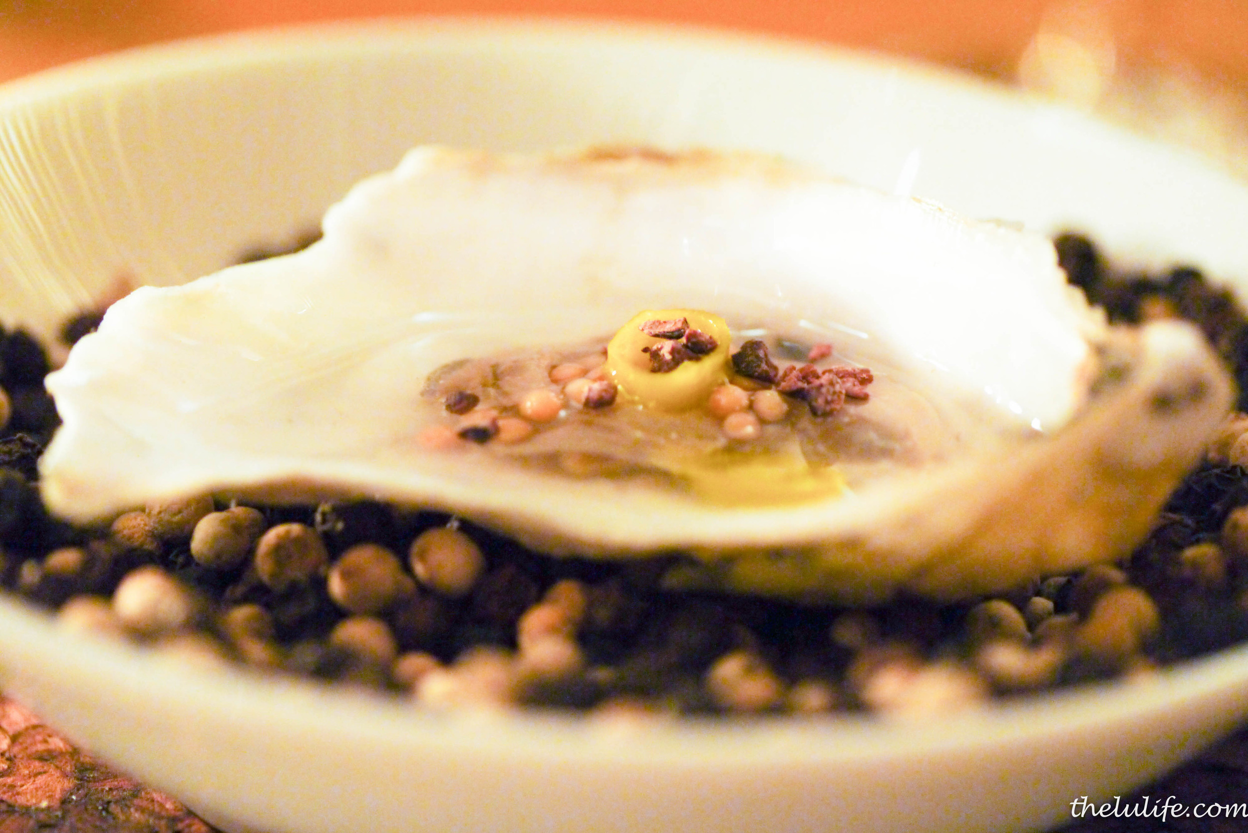 Figure 2. Oyster with mustard seeds and green onion