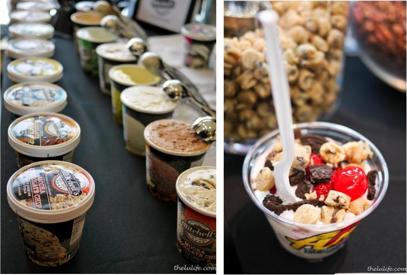 Left: Mitchell's homemade ice cream Right: Andy's Frozen Custard