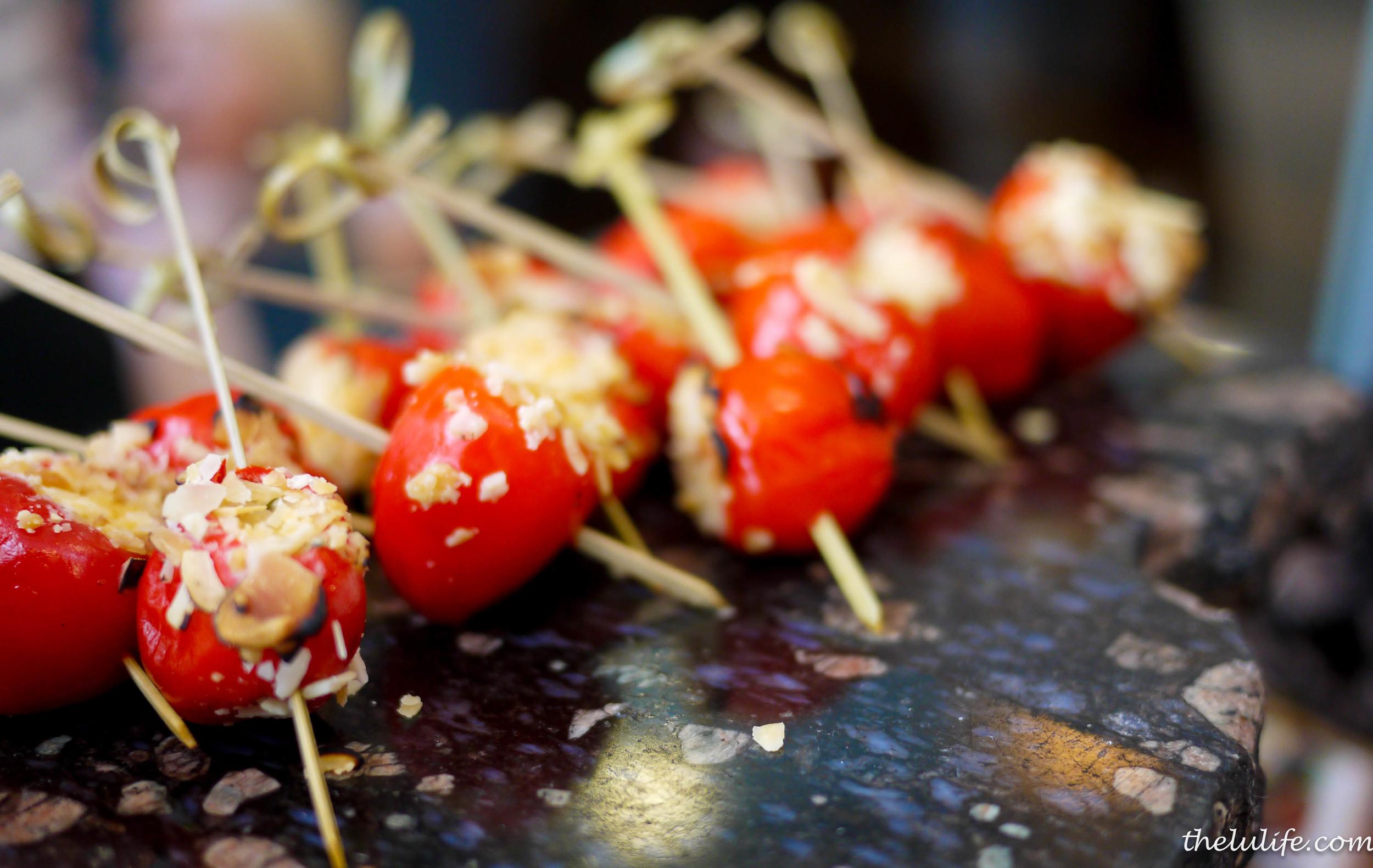 Peppadew peppers stuffed with Boursin cheese