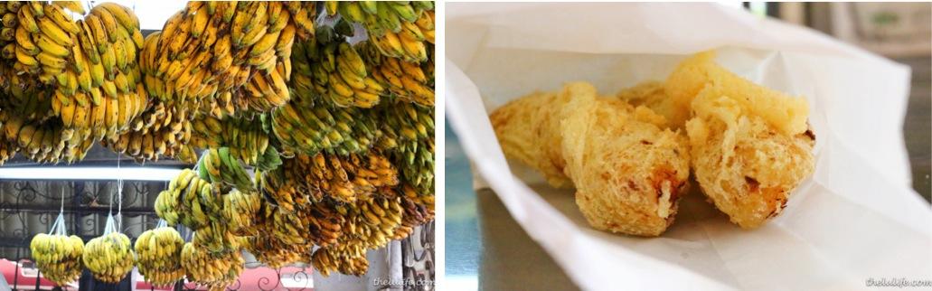 Pisang goreng (fried bananas)