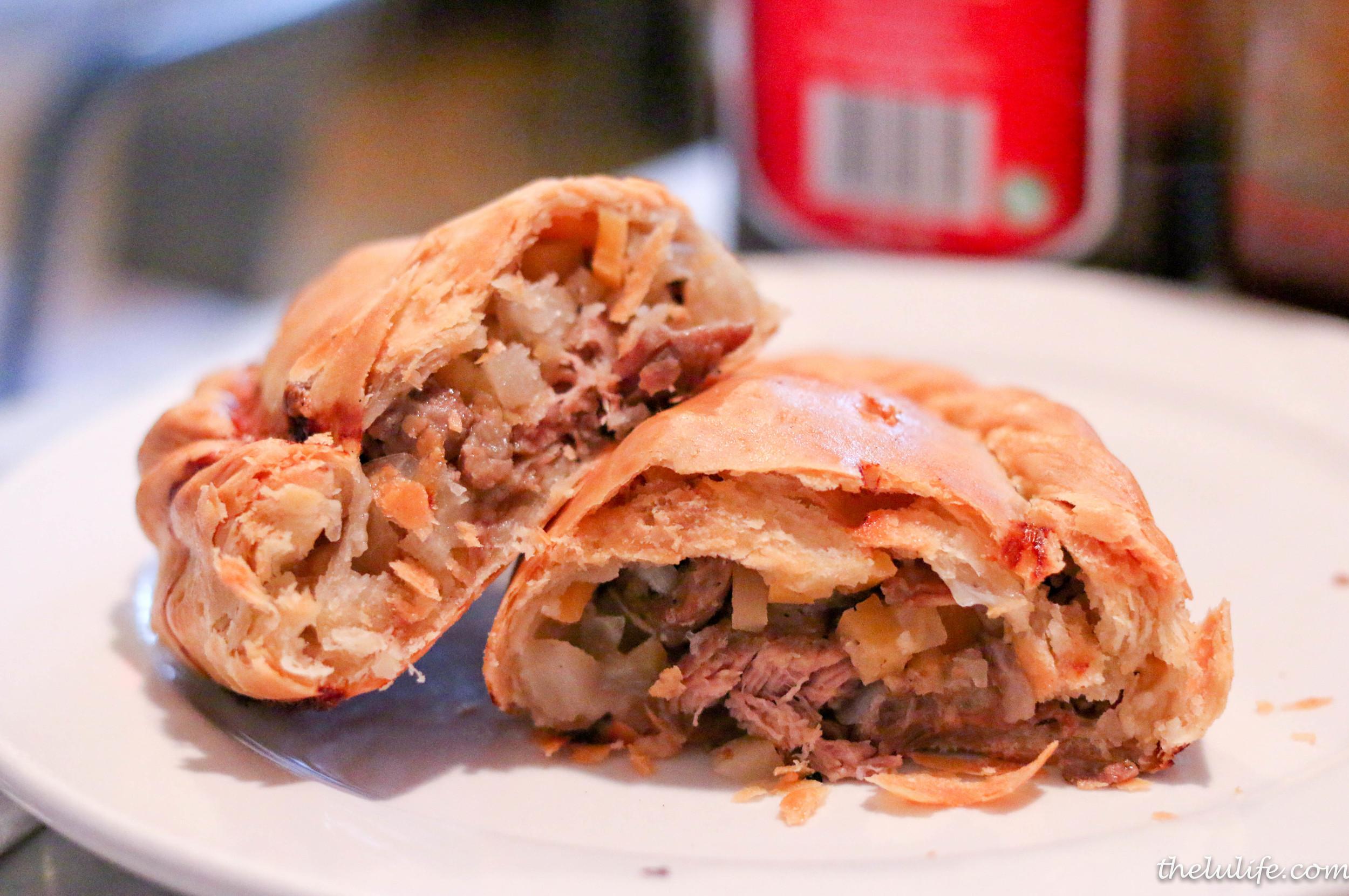 Premium steak pasty - all natural steak, potato, rutabaga, onion and spices
