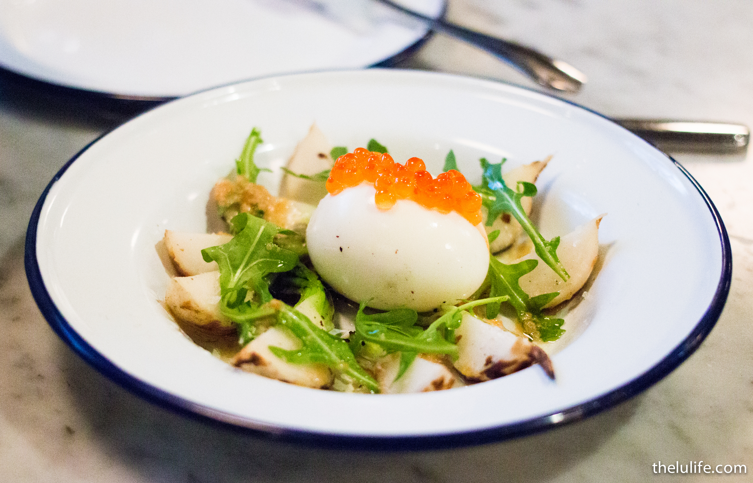 IMG_7732 Turnips with soft boiled egg and trout roe