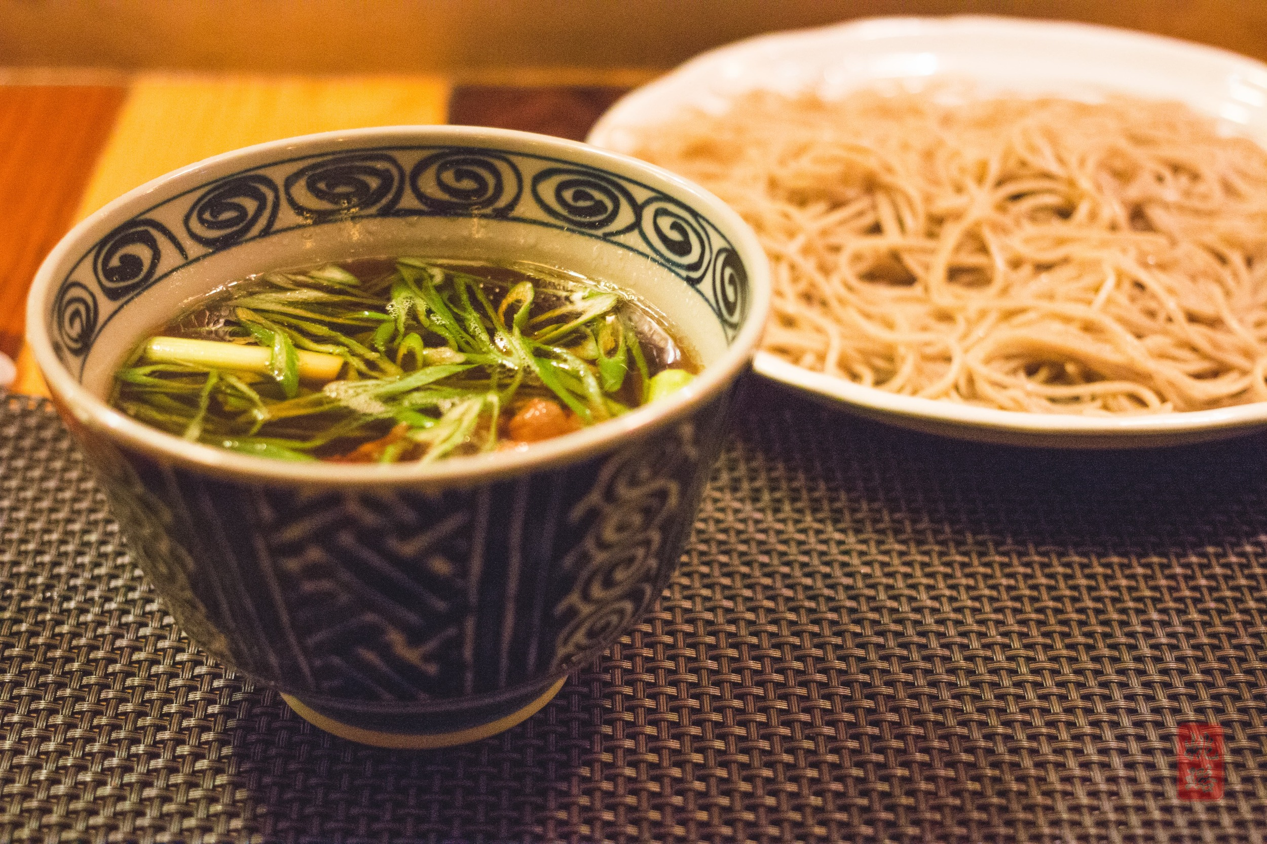 Kamo seiro - homemade soba with sake lees of Dassi 23 and hot duck dipping broth