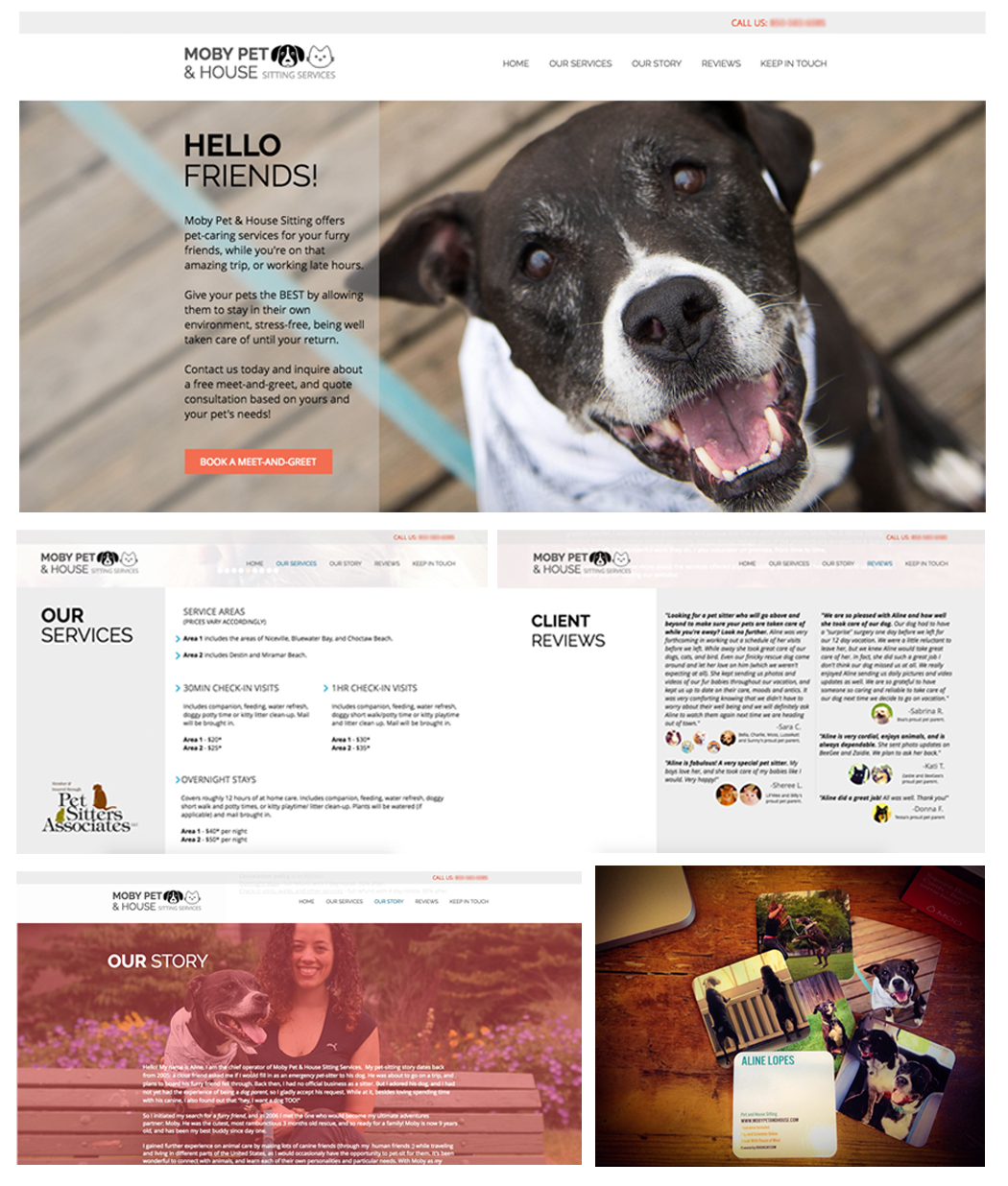 Client: Moby Pet & House Sitting Services | Pet Care - Before committing to the business of freelance, I owned and operated very fun, very rewarding business for almost 2 years.Moby Pet & House Sitting was my way of indulging my love of animals and also making sure my clients (