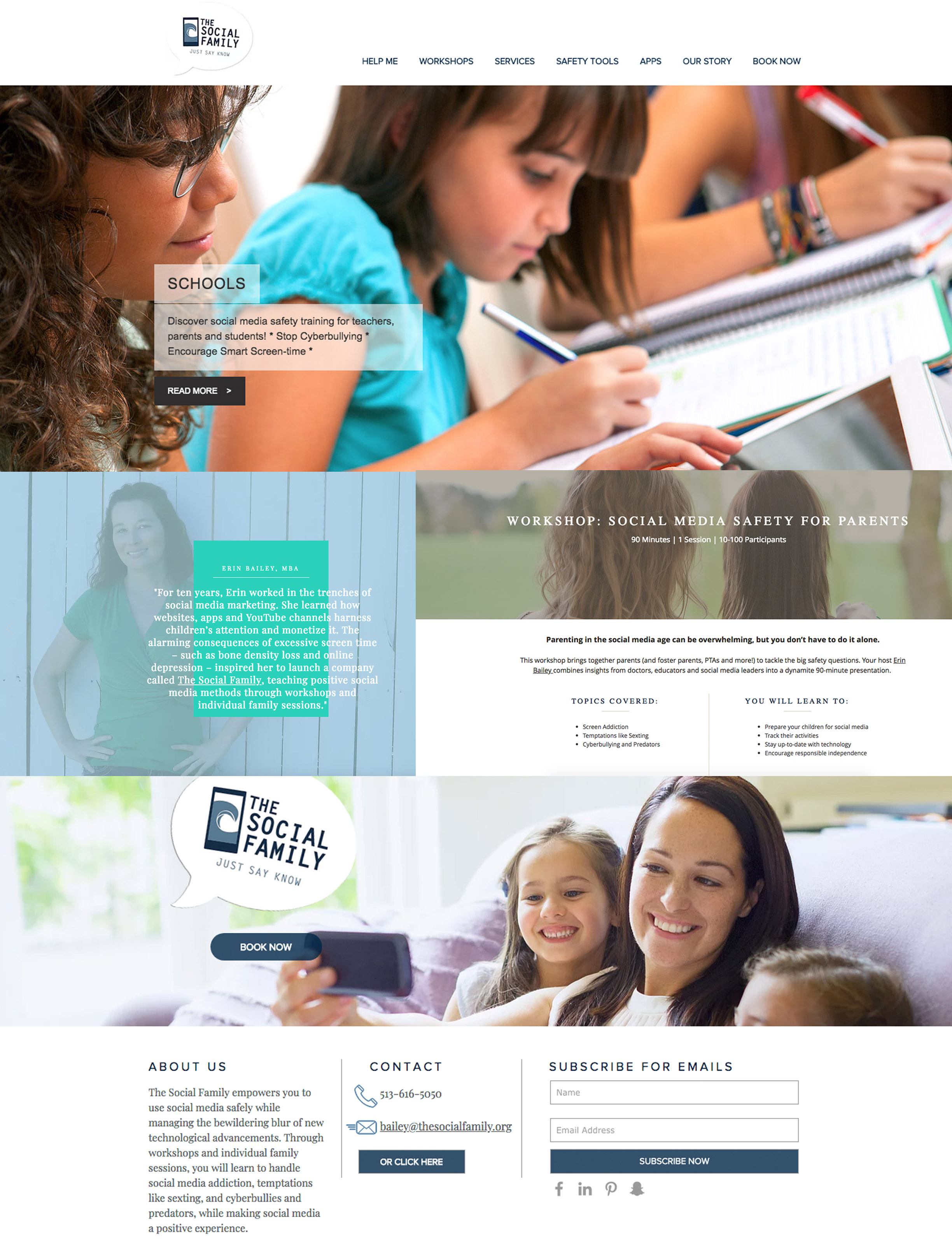 Client: The Social Family - Web-designer, responsible for the re-design and re-launch of the social media safety and awareness company's website.