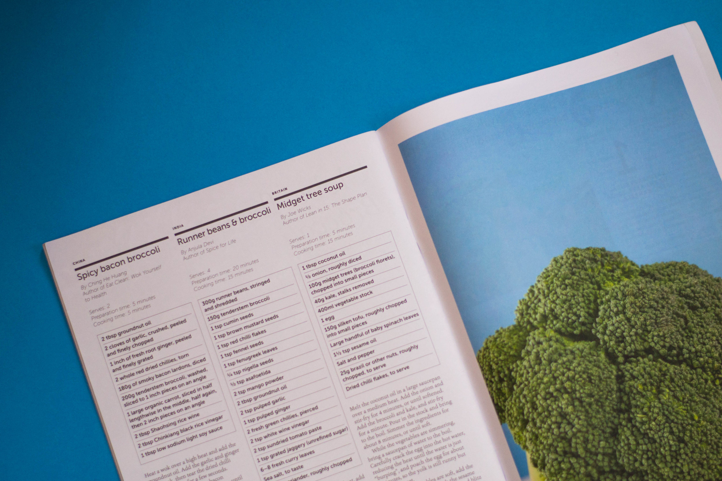 Recipes in the first issue of  Kin Magazine  for VSO