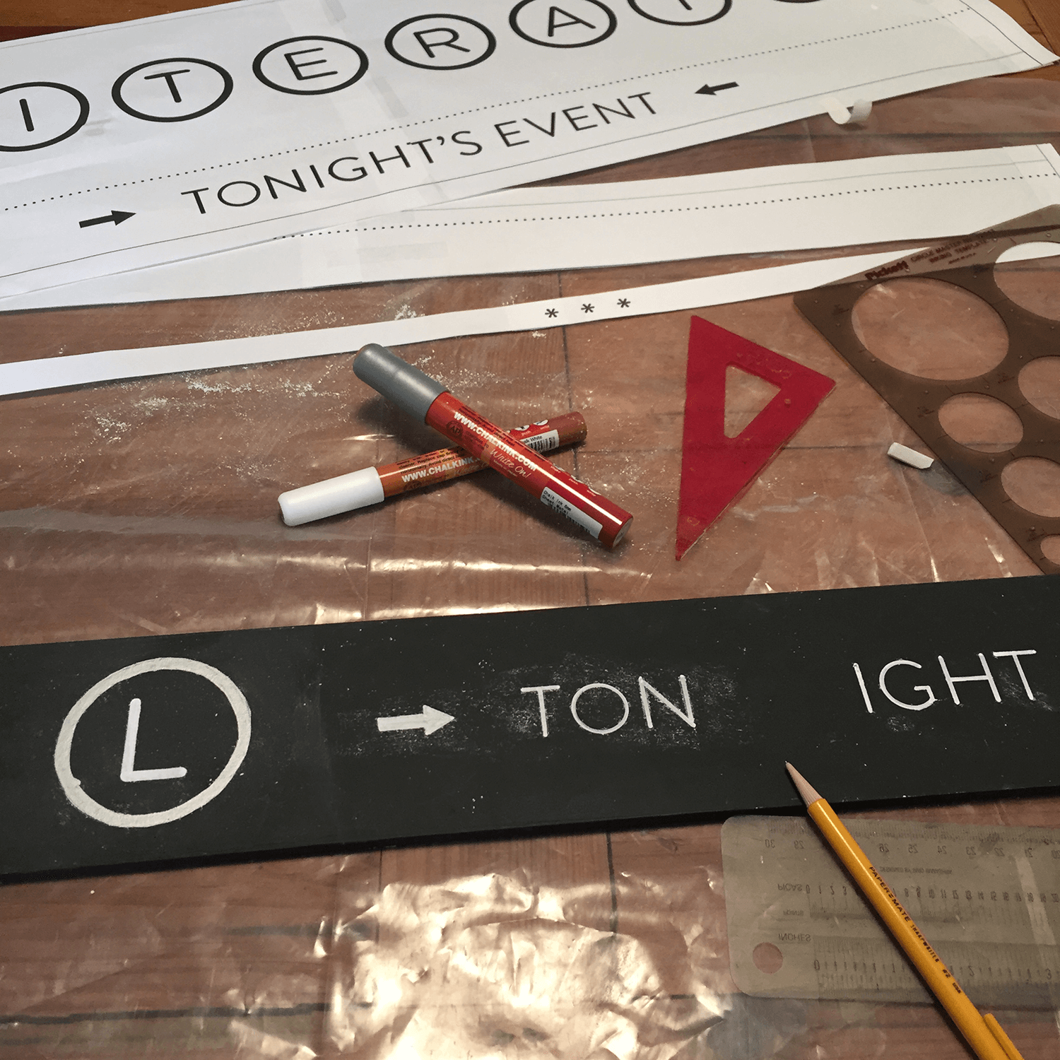 A series of templates and tools helped me nail the lettering on the first try.