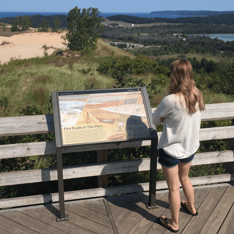 Pierce Stocking Scenic Drive Wayside #4: Dune Overlook