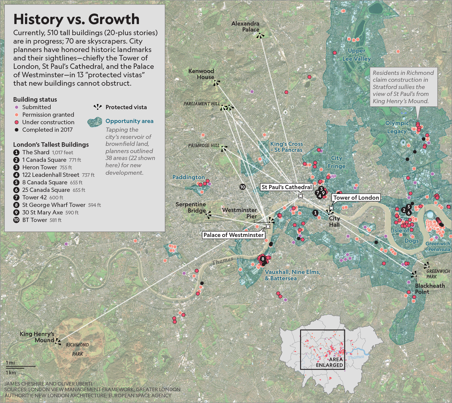 London's Building Boom   National Geographic  2018   2019 Wallis Award for Excellence in Cartography   To license, email:  NatGeoCreative@natgeo.com