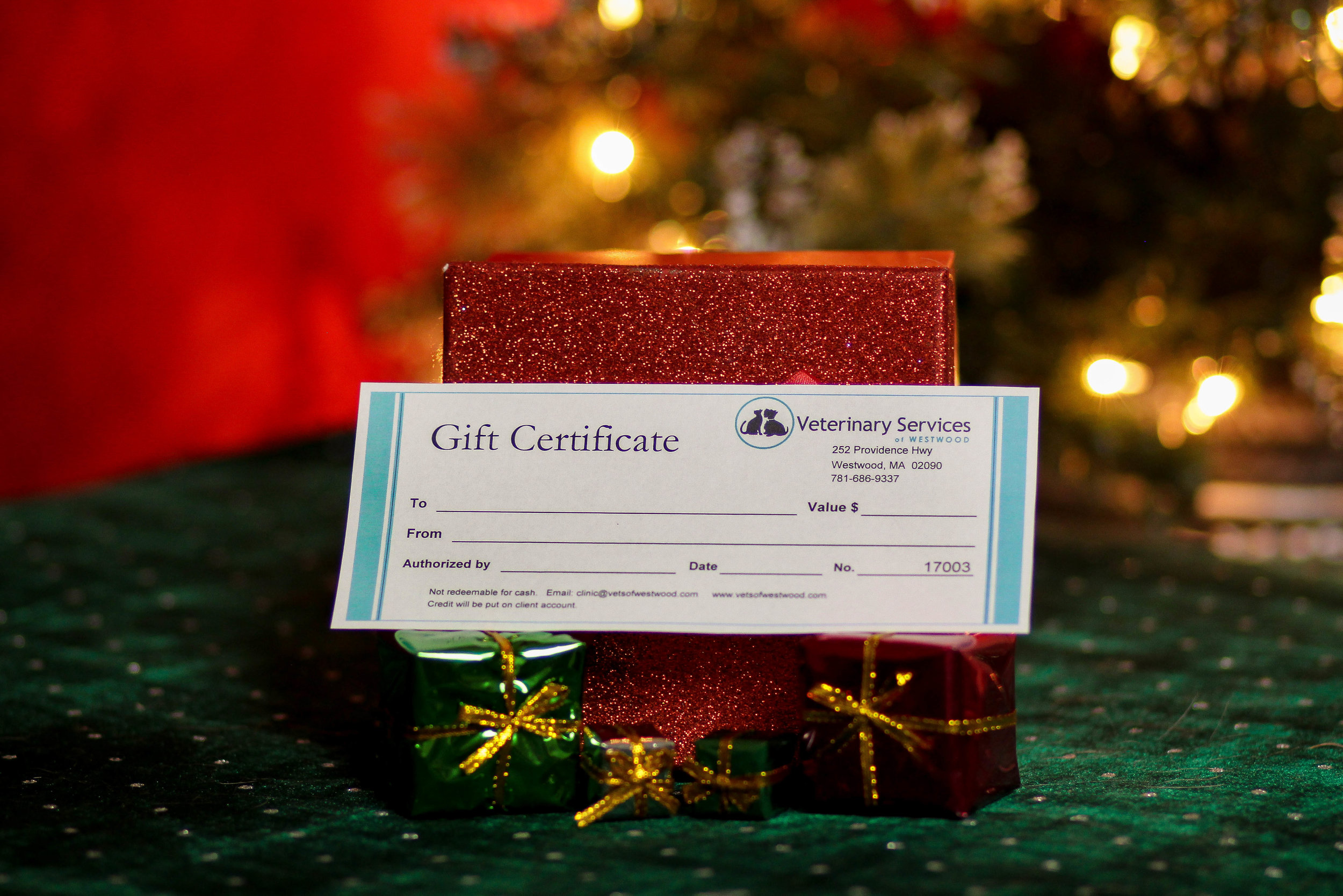 Gift certificates are the perfect stocking stuffer!