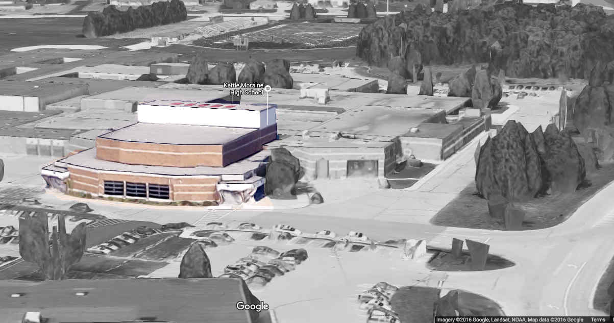 Click the image  to see Kettle Moraine High School in Google Maps