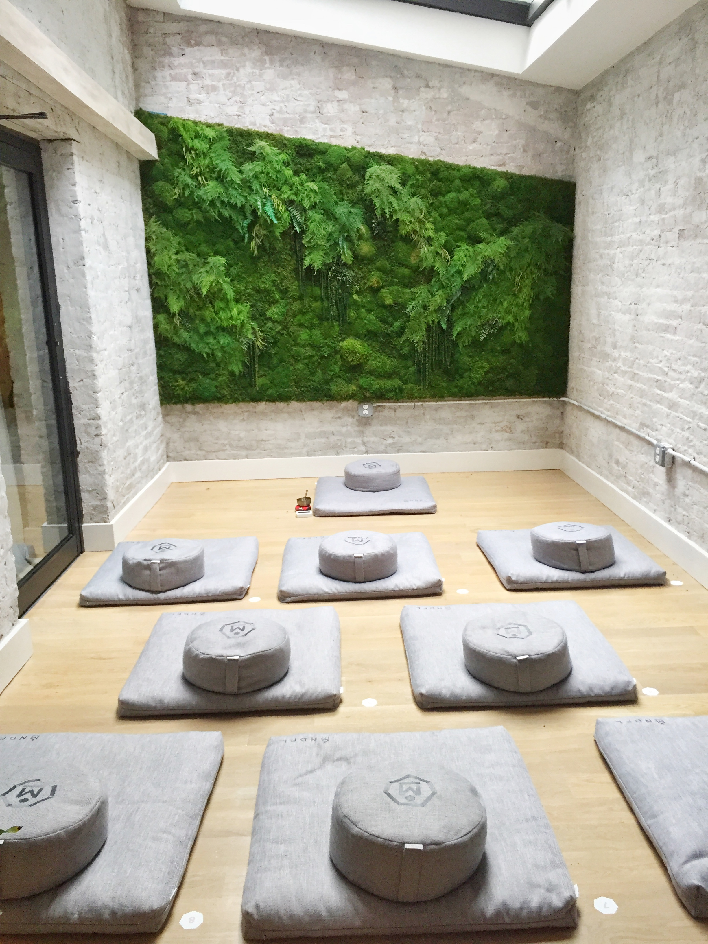 private self guided meditation room- the room for guided class is larger