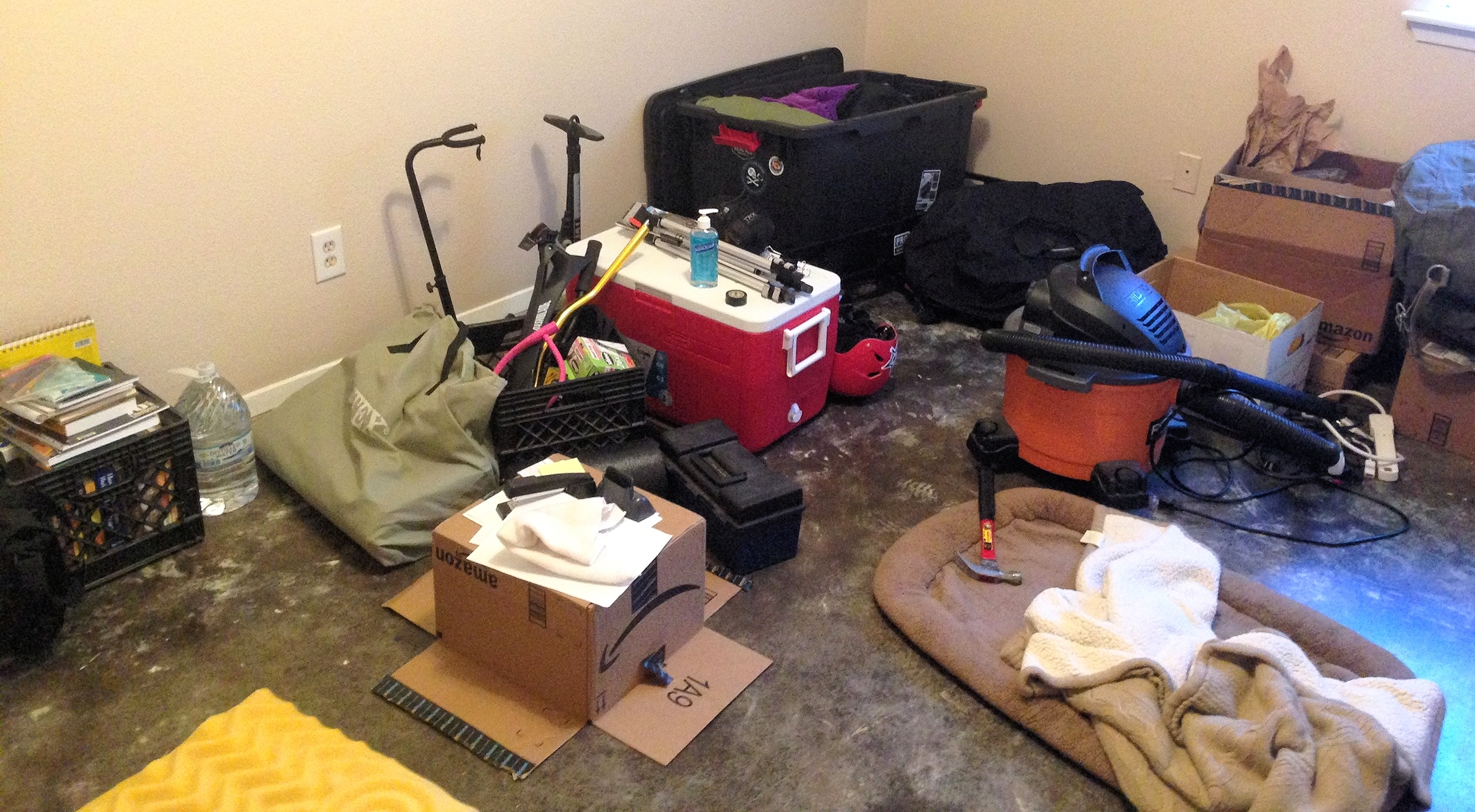 Proof we aren't prepared: the stuff we plan to (mostly) take with us.