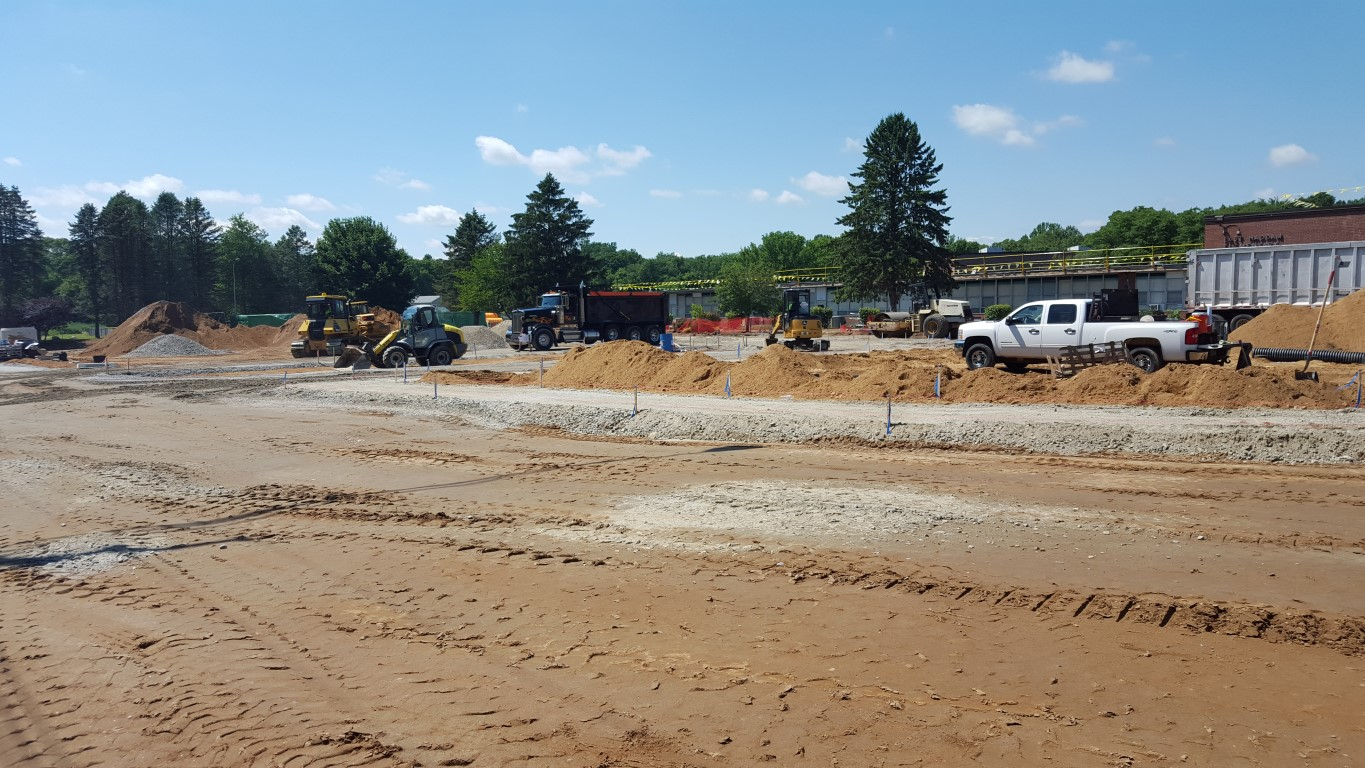 Main parking lot from start of bus loop.