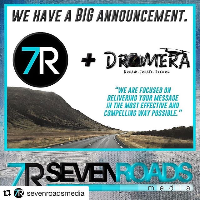 I'm excited to announce a BIG change to @sevenroadsmedia!  Our team is growing, and we have officially partnered with @dromera.us and @balazsbusznyak.  Our services include such media projects as #weddings, #realestate, #smallbusiness, #drone, #socialmedia, #podcast engineering, #headshots and #marketing.  Stay tuned for more exciting information!  We are here to tell your stories in the most compelling way possible.