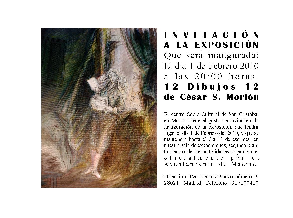 As the poster says it was a small show of just 12 Indian Ink and mixed acrylics drawings that took place in Madrid.