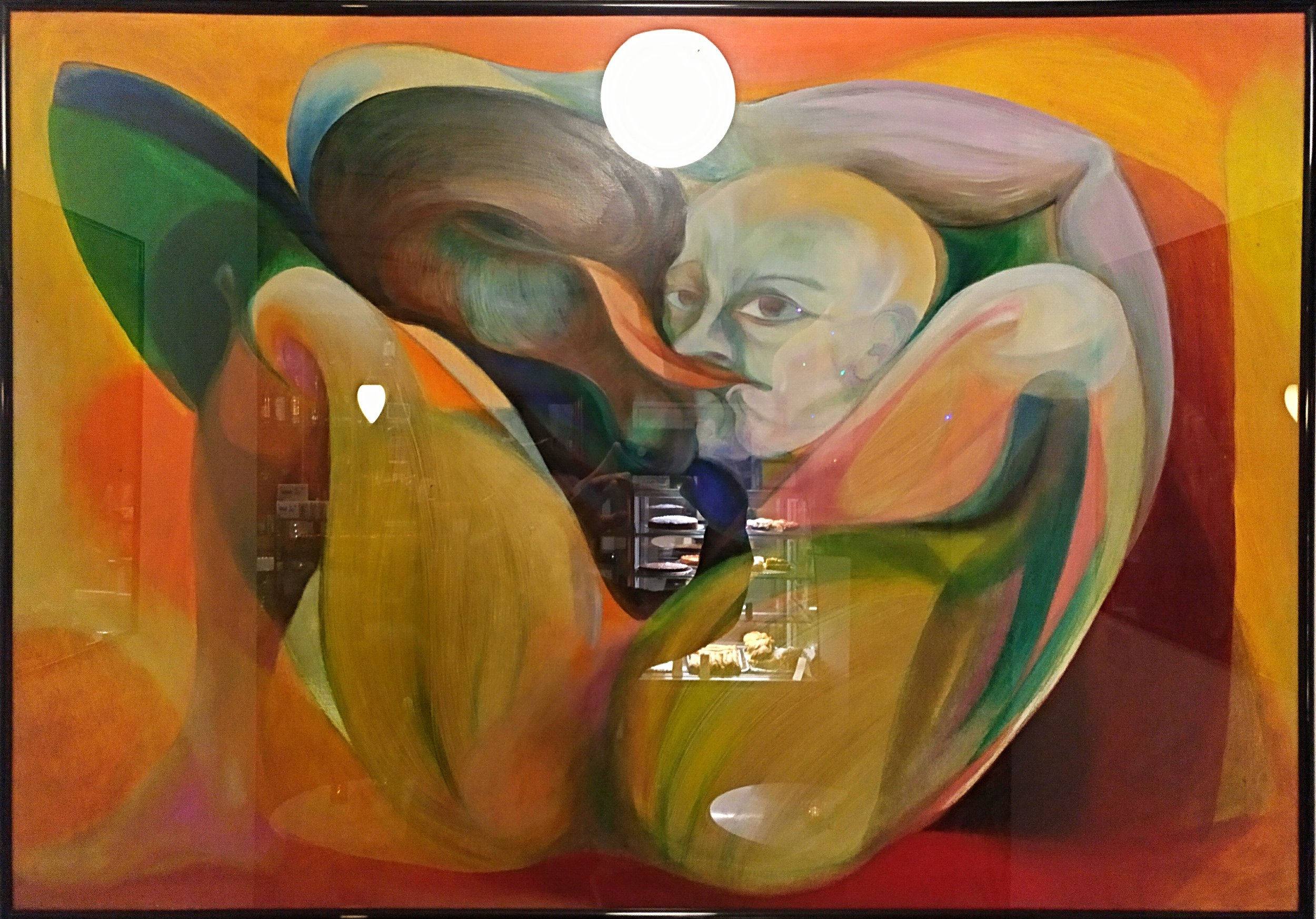 Love between a man and a bird, as shown in Heidelberg, Galerie YilliY. 2016.